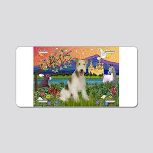 Wire Fox Terrier Fantasy Aluminum License Plate