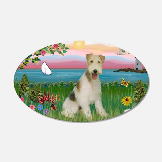 Lighthouse & Wire Fox Terrier Wall Decal