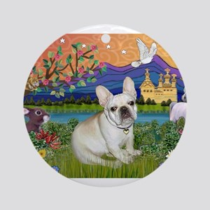 French Bulldog in Fantasyland Ornament (Round)