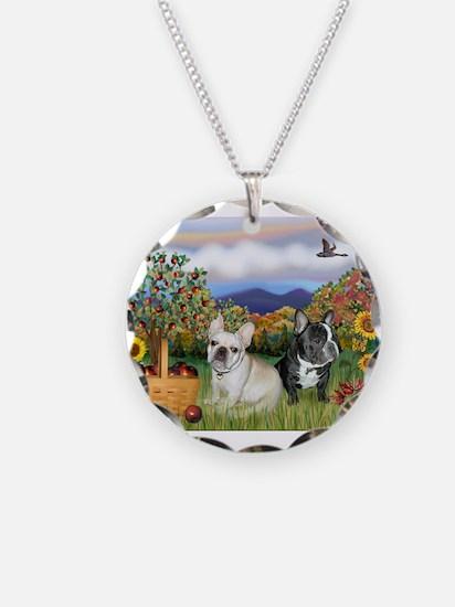 French Bulldog Picnic Necklace