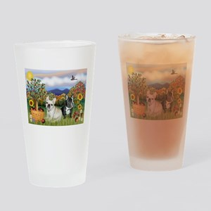 French Bulldog Picnic Drinking Glass
