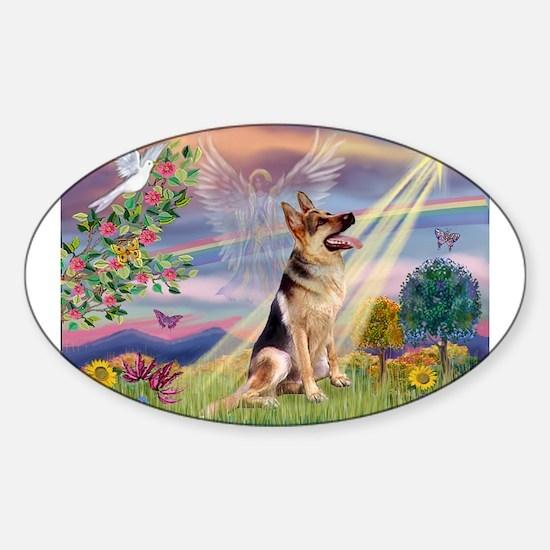 Cloud Angel & G-Shepherd #1 Sticker (Oval)