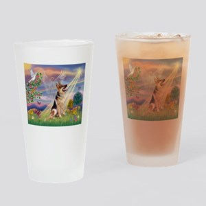 Cloud Angel & G-Shepherd #1 Drinking Glass