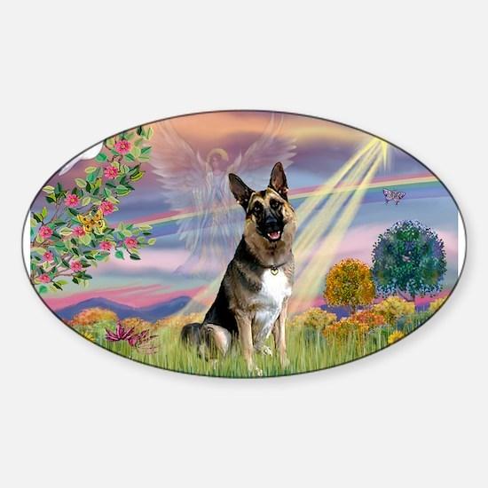 Cloud Star G-Shepherd (#3) Sticker (Oval)