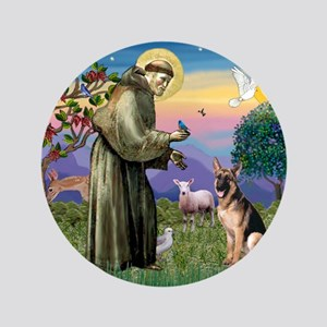 "St Francis & G-Shepherd #2 3.5"" Button"