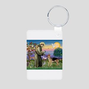 St Francis / G Shep Aluminum Photo Keychain
