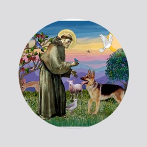 "St Francis / G Shep 3.5"" Button"