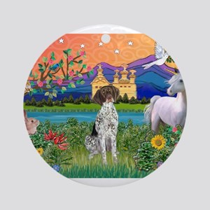 Fantasy Land / German SH Poin Ornament (Round)