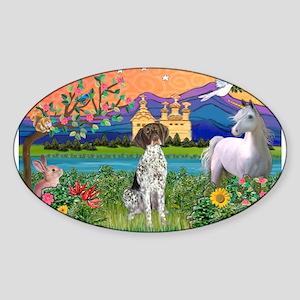 Fantasy Land / German SH Poin Sticker (Oval)
