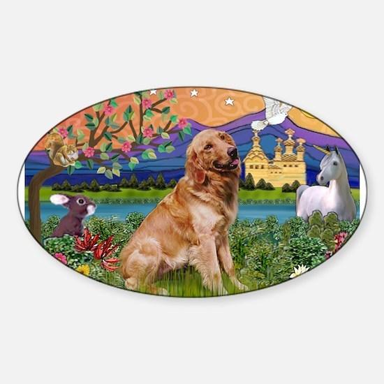 Fantasy Land Golden Sticker (Oval)