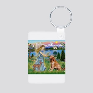 Garden Angel / Golden Sticker Aluminum Photo Keych