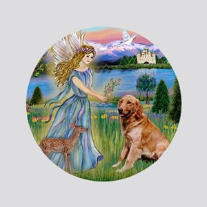 "Garden Angel / Golden Sticker 3.5"" Button"