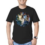 Queen of the Gnomes Men's Fitted T-Shirt (dark)