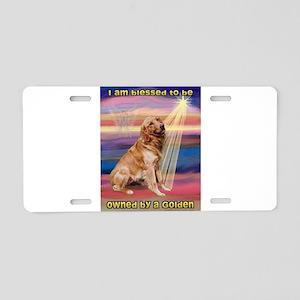 Blessed Golden Aluminum License Plate