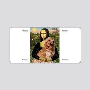 Mona's Golden Aluminum License Plate