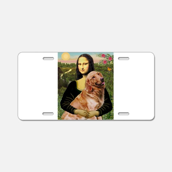 Mona's Golden Aluminum License Plate