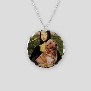 Mona's Golden Necklace Circle Charm
