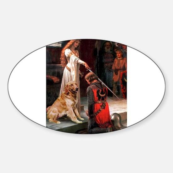 The Princess's Golden Sticker (Oval)