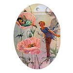 Twilight Fairies Ornament (Oval)