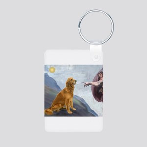 Creation (#2) & Golden Aluminum Photo Keychain