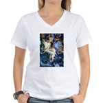 Queen of the Gnomes Women's V-Neck T-Shirt