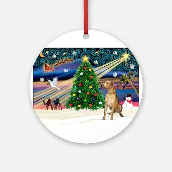 Xmas Magic & Gr Dane Ornament (Round)