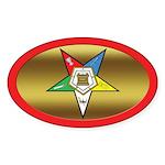 OES Oval Star Oval Sticker