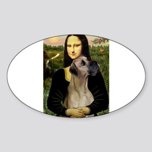 Mona's Fawn Great Dane Sticker (Oval)