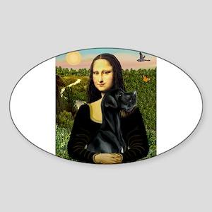 Mona's Black G-Dane (N) Sticker (Oval)