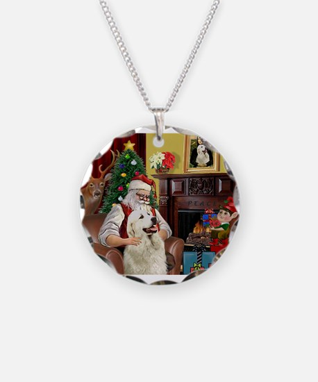 Santa's Great Pyrenees Necklace