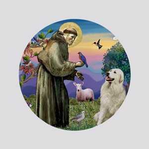 """St. Francis & Great Pyrenees 3.5"""" Button"""