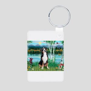 Birches / GSMD Aluminum Photo Keychain