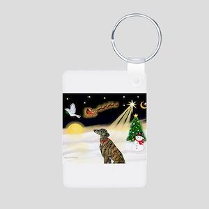 Night Flight/Greyhound(brin) Aluminum Photo Keycha