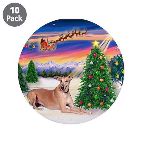 """TakeOff-Greyhound (f2) 3.5"""" Button (10 pack)"""