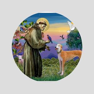 "St Francis / Greyhound (f) 3.5"" Button"