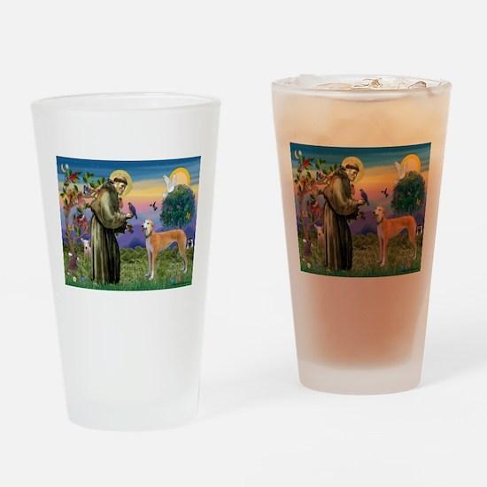 St Francis / Greyhound (f) Drinking Glass