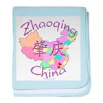 Zhaoqing China Map baby blanket