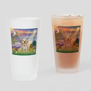 Cloud Angel /Havanese pup Drinking Glass