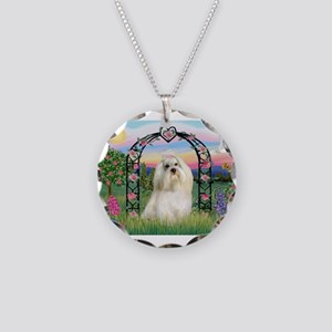 Rose Arbor Havanese Necklace Circle Charm