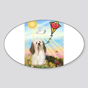 The Kite / Havanese (#1) Sticker (Oval)