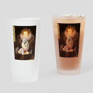 Queen / Havanese (1) Drinking Glass