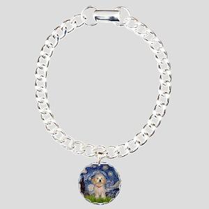 Starry Night Havanese Pup Charm Bracelet, One Char