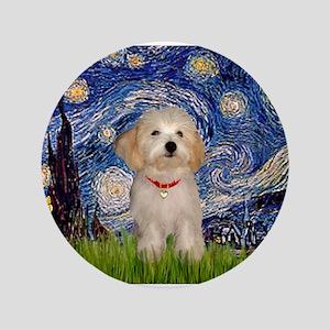 "Starry Night Havanese Pup 3.5"" Button"