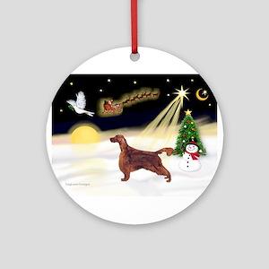 Night Flight/Irish Setter Ornament (Round)