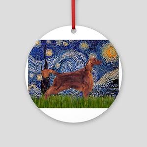 Starry Night Irish Setter Ornament (Round)