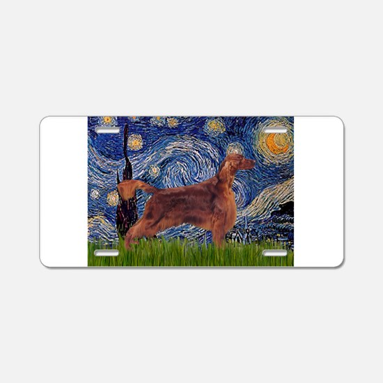 Starry Night Irish Setter Aluminum License Plate