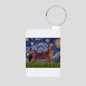 Starry Night Irish Setter Aluminum Photo Keychain