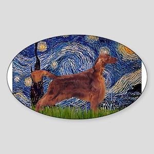 Starry Night Irish Setter Sticker (Oval)
