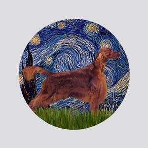 "Starry Night Irish Setter 3.5"" Button"