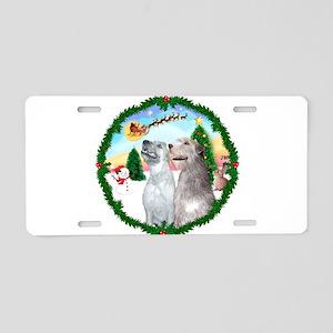 Take Off1/Irish Wolfhound pai Aluminum License Pla